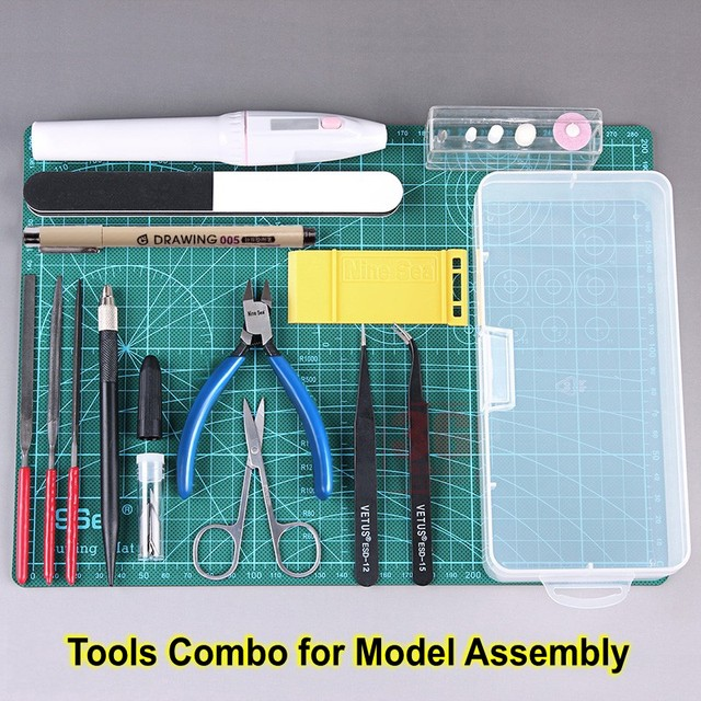 Model Building Tools Combo For Gundam Tools Military Hobby Model DIY Accessories Grinding Cutting Polishing Tools Set