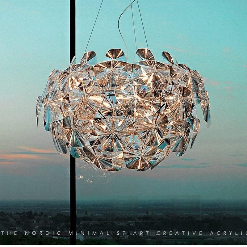 купить Luxury Glass Chandelier Pinecone Lamp Lights Foyer Living Room Decoration Modern Milan Hope Francisco Gomez Paz Design Fixtures дешево