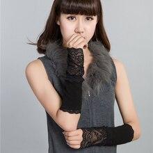 2016 scorching sale vogue lace  caneleira mitts Cotton summer season solar crucial  summer season fashion ladies Arm Warmers Knitted Arm Warmer