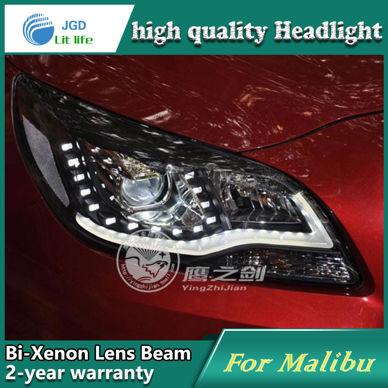 Car Styling Head Lamp case for Chevrolet Malibu Headlights LED Headlight DRL Lens Double Beam Bi-Xenon HID Accessories jgrt car style led headlights for porsche cayenne 2004 2006 for head lamp led drl lens double beam h7 hid xenon bi xenon lens