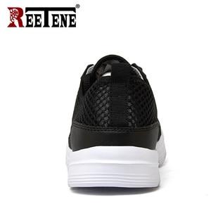 Image 4 - REETENE 2019 hommes chaussures été baskets maille chaussures hommes décontractées mode confortable chaussures plates pour homme Tenis Feminino Zapatos grande taille