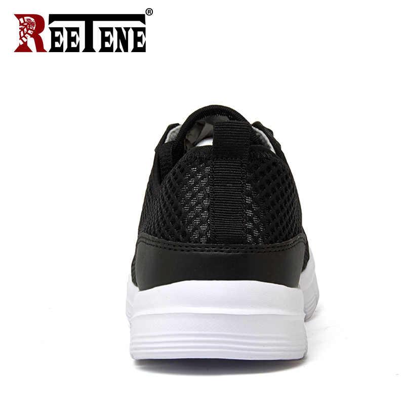 Reetene/2019 г.; Мужская обувь; летние Сникеры с сеткой; повседневная мужская обувь; модные удобные мужские туфли на плоской подошве; tenis feminino Zapatos; большие размеры