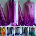 Natural Silk Chiffon Material Shade Ombre Silk Fabric Chiffon
