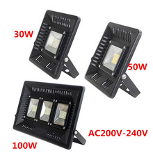 Ultra Thin LED Floodlight 30W 50W 100W Warm/Cold White Outdoor Lighting AC200-240V 36/42/108LEDs Projecteur LED Exterieur