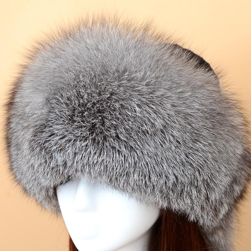 Chapeau de fourrure russe renard fourrure chapeau Skullies bonnets adulte hiver chapeau femmes spécial mode Style boule décoration 2017 nouveau SF13060 16 - 4