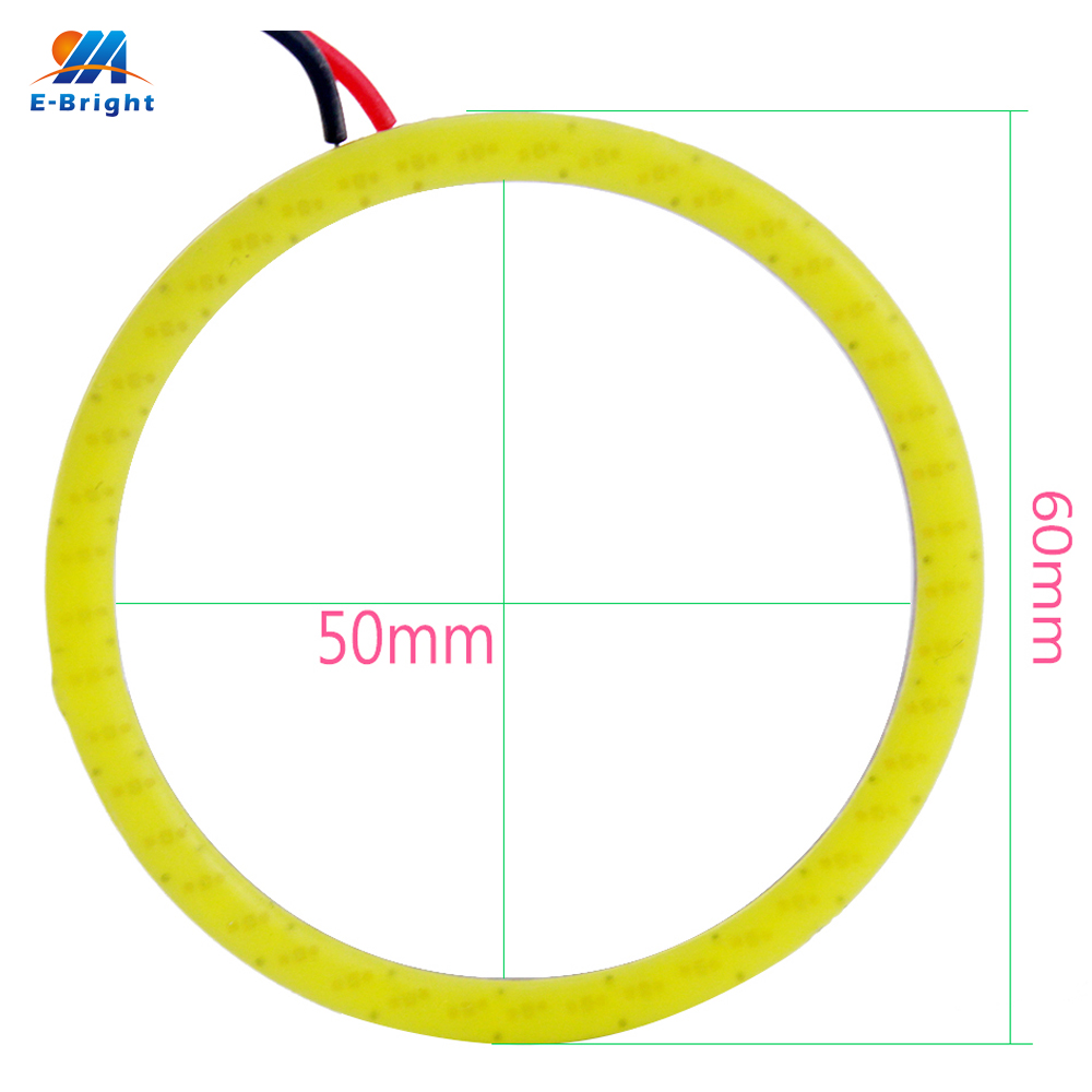 High Quality!! 16Pieces(8pairs) Auto Halo Rings COB 60MM Angel Eye COB Chips Car Headlight 60mm Car Angel Eyes Motorcycle White