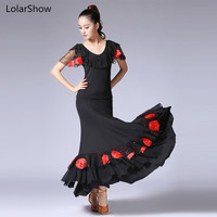 Latin Dance Dress Tango Dance Tops+Skirt Flamengo Skirt Ballroom Dance Tops and Skirts Dance Dress Sets