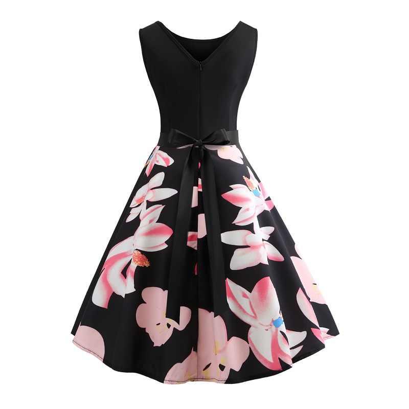 Подросток вечерние платье для девочек для детей Принт с цветком платье летняя одежда подростков на Выпускной платья Для женщин размер одежды S-XXL