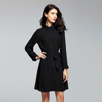 2019 Summer Elegant Vintage Dress Women Casual Long Sleeve Office Lady Work Plus Size Loose Fashion Dress Female Vestdios Large