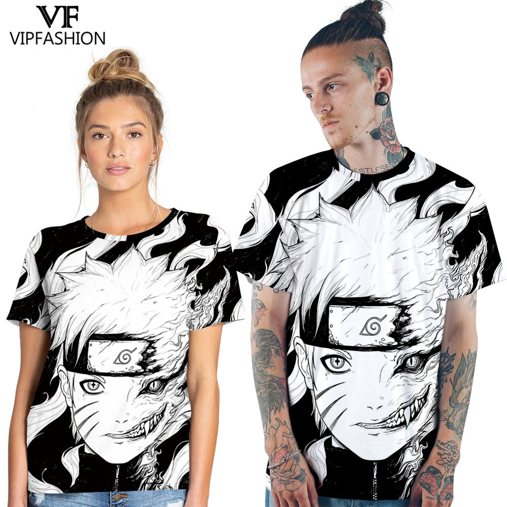 Vip Fashion 2019 Latest Style O Neck Shirt 3d Cool Printed Pattern Cartoon Naruto Role Design Couple T Shirt Cosplay Clothing T Shirts Aliexpress