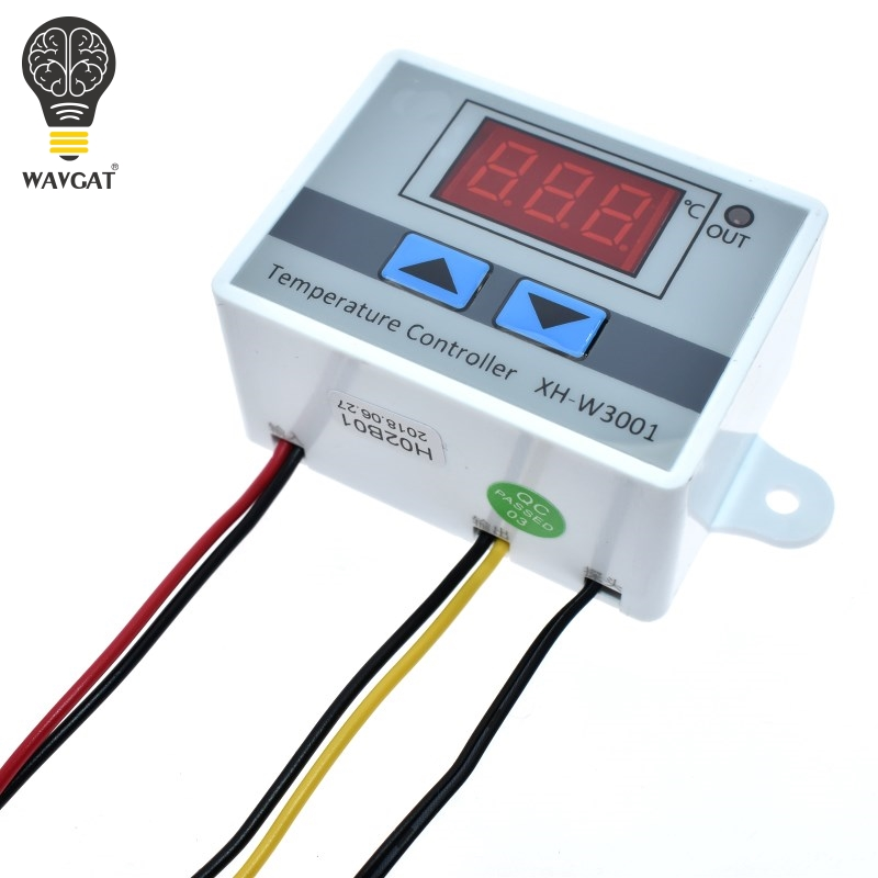 10A <font><b>12V</b></font> <font><b>24V</b></font> 110V 220V AC Digital LED Temperature Controller XH-W3001 for <font><b>Arduino</b></font> Cooling Heating Switch Thermostat NTC Sensor image