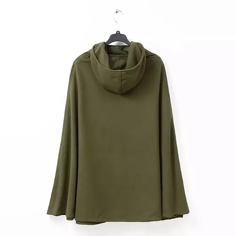 Nouveau Longue Dame Manteau Pull Split De Black Femmes Avant Robes green À over Ltd119130 Bref Mode Tranchée Femelle Outswear Cape Capuche 1Zqd8n1