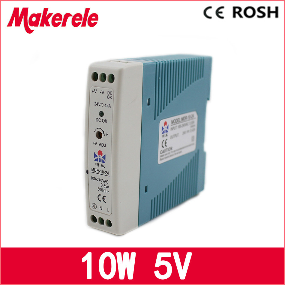 MDR-10-5 Din Rail switching power supply Mini Size 10w 2a 5v ac dc Power Supply with CE mdr 10 5 din rail switching power supply mini size 10w 2a 5v ac dc power supply with ce