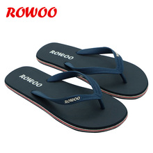 Rowoo New Design Leisure Style Fashion Men's Rubber Durable V Strap Hot Beach Summer Sandals Flip Flops RN160228-Free Shipping