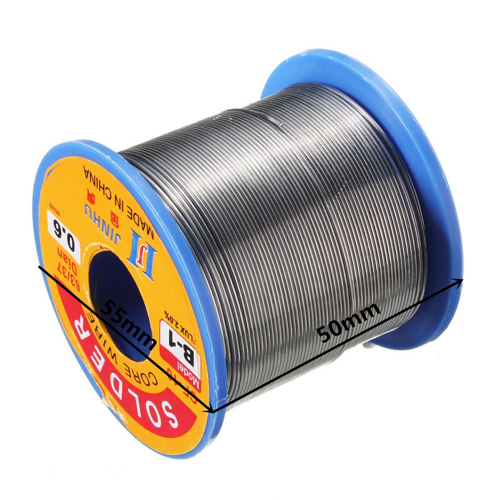 0.5-2mm 50g-500g <font><b>60</b></font>/<font><b>40</b></font> Rosin Core Tin Lead <font><b>Solder</b></font> Wire Soldering Welding Flux 2.0% Iron Rosin Core Wire Reel Welding line image