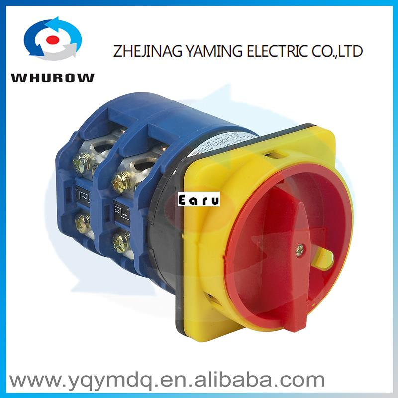 Factory Supplied YMW26-160/2GS High quality manual changeover switch rotary switch cam switch DC voltage sliver contacts 660v ui 10a ith 8 terminals rotary cam universal changeover combination switch
