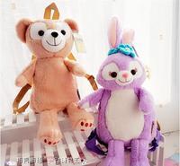 1PC 45cm cartoon Stella Lou rabbit ballet duffy bear plush backpacks students shoulder bag Satchel girl toy gift of baby