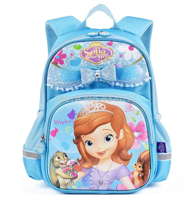 Blue Sofia the First Princess Sofia Backpack School Bags for Kids Girls  Children Primary School Book 740171f2a37ad