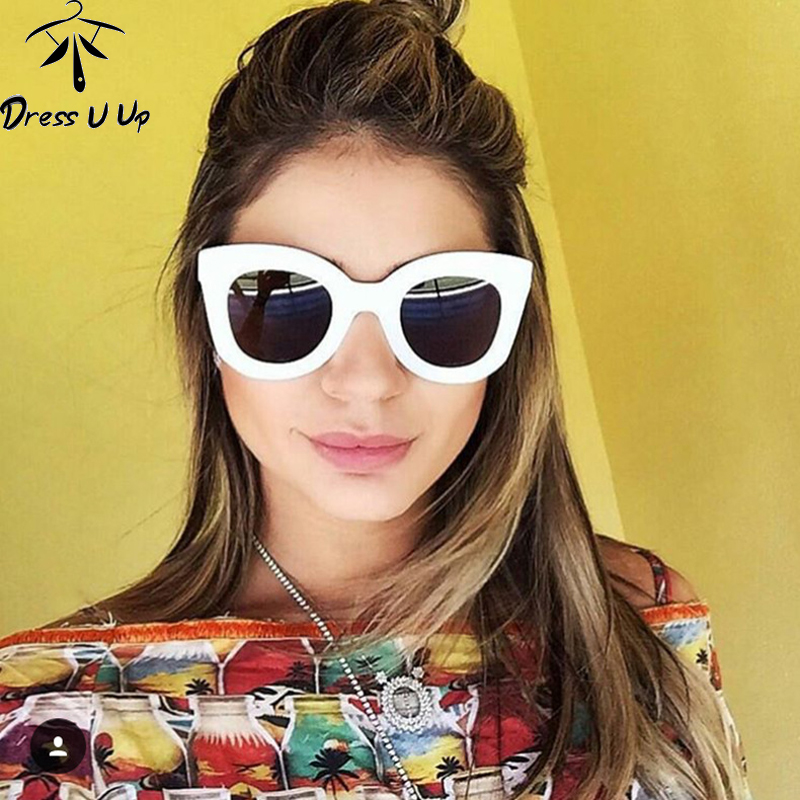 DRESSUUP Moda Marco grande Gafas de sol Mujeres Diseñador de la - Accesorios para la ropa - foto 5