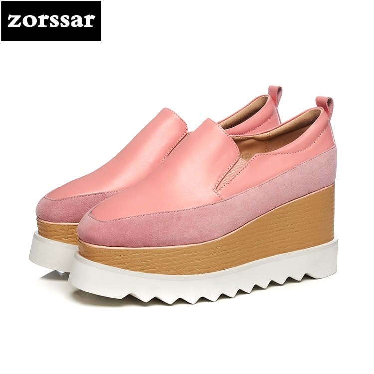 {Zorssar} 2018 New suede womens Creepers shoes heels Leisure Wedges High heels Platform pumps shoes fashion women shoes big size zorssar brand 2018 new womens creepers shoes heels casual wedges high heels pumps shoes fashion suede women platform shoes