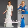 Long Chiffon Mother of the Bride Dress for Weddings Plus Size Dress with Lace
