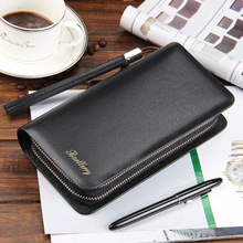 High Quality Vintage Man Wallet Male Slim Pu Leather Bifold Business Long Card Coin Purse Cartera Hombre Billetera