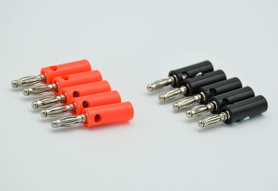 10 pcs Audio Speaker Banana Plugs Conectores de Parafuso 4mm, XF14