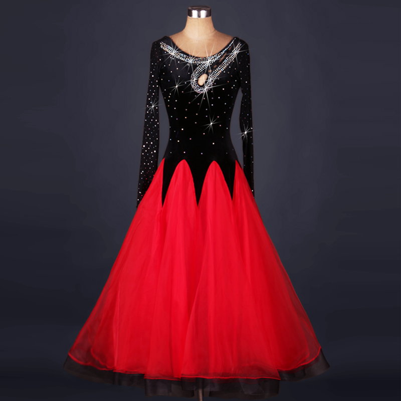 new waltz dance costumes ladies Can be customized ballroom dance competition dresses Long sleeves standard ballroom dress