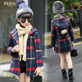 Girls Winter Wool Coat Jackets Plaid Coat Outerwear Girls Clothing Teenage Children Clothing Warm Kids Jackets for Girls Clothes
