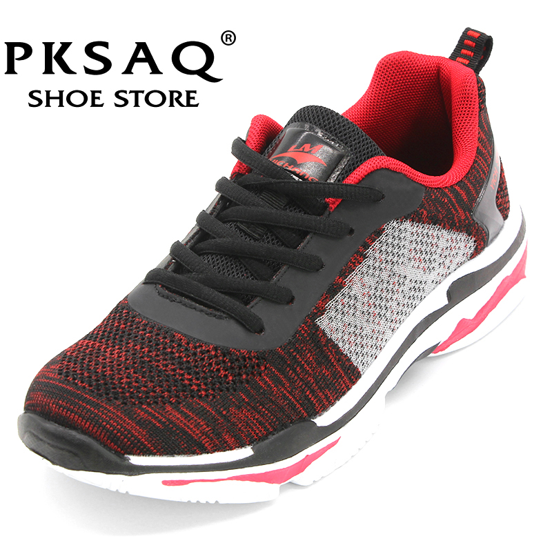 PKSAQ Casual Shoes Men 2018 Air Mesh Super Light Breathable Tenis Summer Loafers Mens Fashion Trainers Outdoor Walking Sneakers