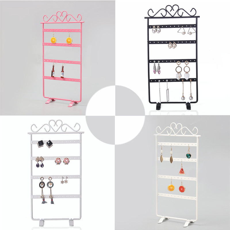 Earrings Necklace Jewelry Stand Holder Display Rack Simple Style Metal Stand Holder Display Organizers Shelf Jewelry StandHolder