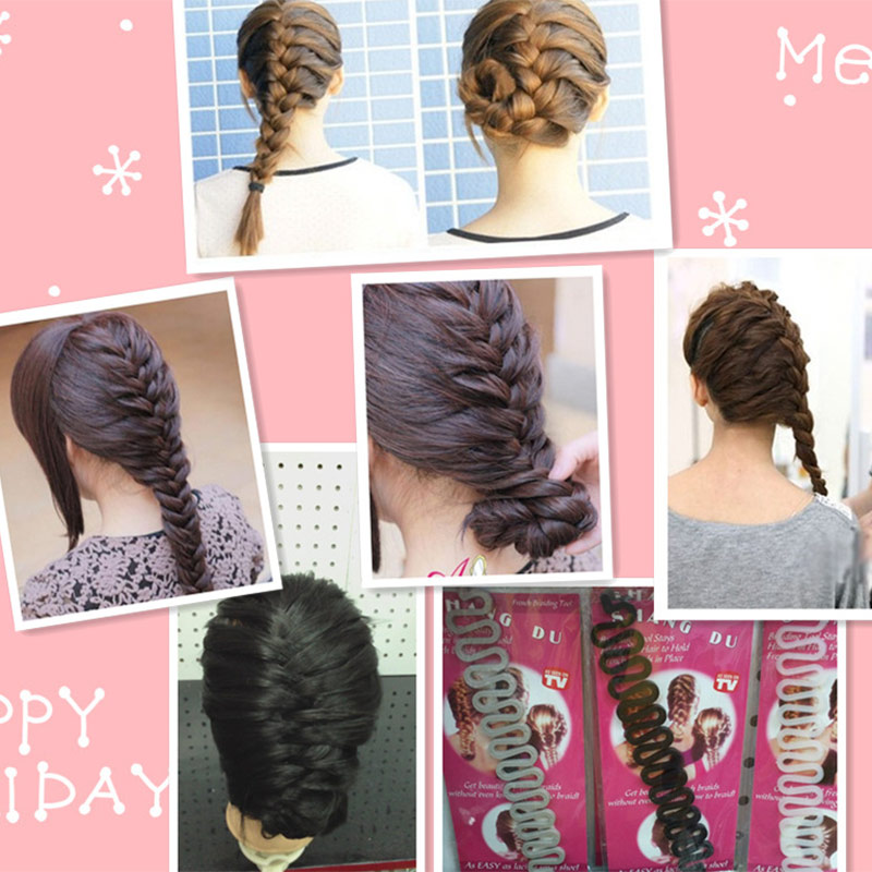 Купить с кэшбэком Fashion Hair Braiding Braider Tool Roller With Magic hair Twist Styling Bun Maker KG66