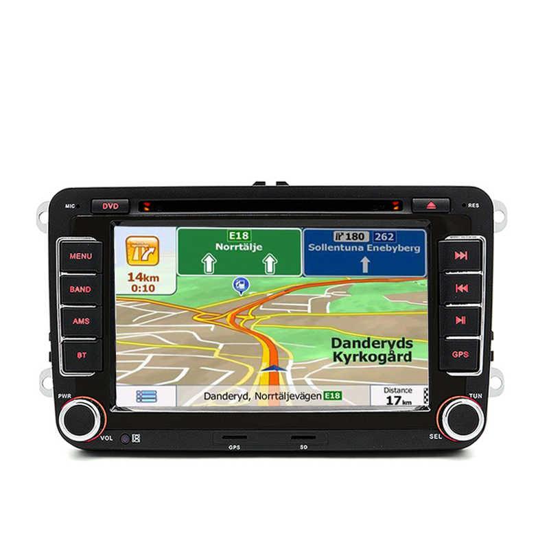 Car Multimedia player GPS 2 Din For vw golf 4 5 6 7 passat b5 b6 b7 Polo Tiguan Leon Skoda octavia Fabia SEAT leon Bora Rapid RD