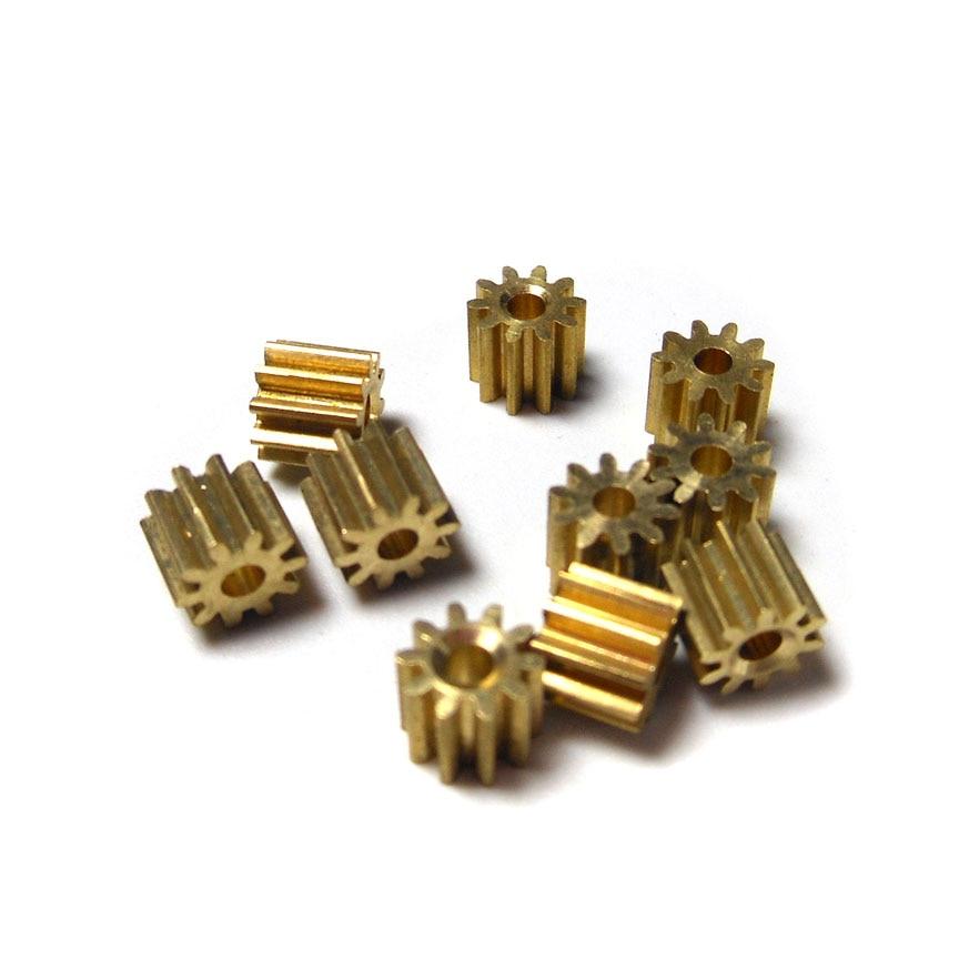 102A 0.4M Copper Pinion Gears 10 Teeth 0.4M 1.98mm Shaft Hole Gear  (10pcs/lot)