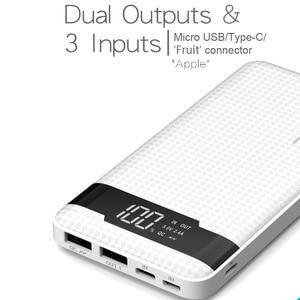 Image 5 - オリジナル PINENG PN 962 20000mAh 携帯電話の電源銀行ポータブルリチウムポリマーバッテリー LED インジケータ 2 USB 急速充電器 5V 3A 18 ワット