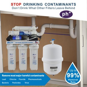 Image 3 - 6 Stage Household Under Sink Reverse Osmosis Drinking Water Filter System with Alkaline Remineralization Natural pH   100GPD