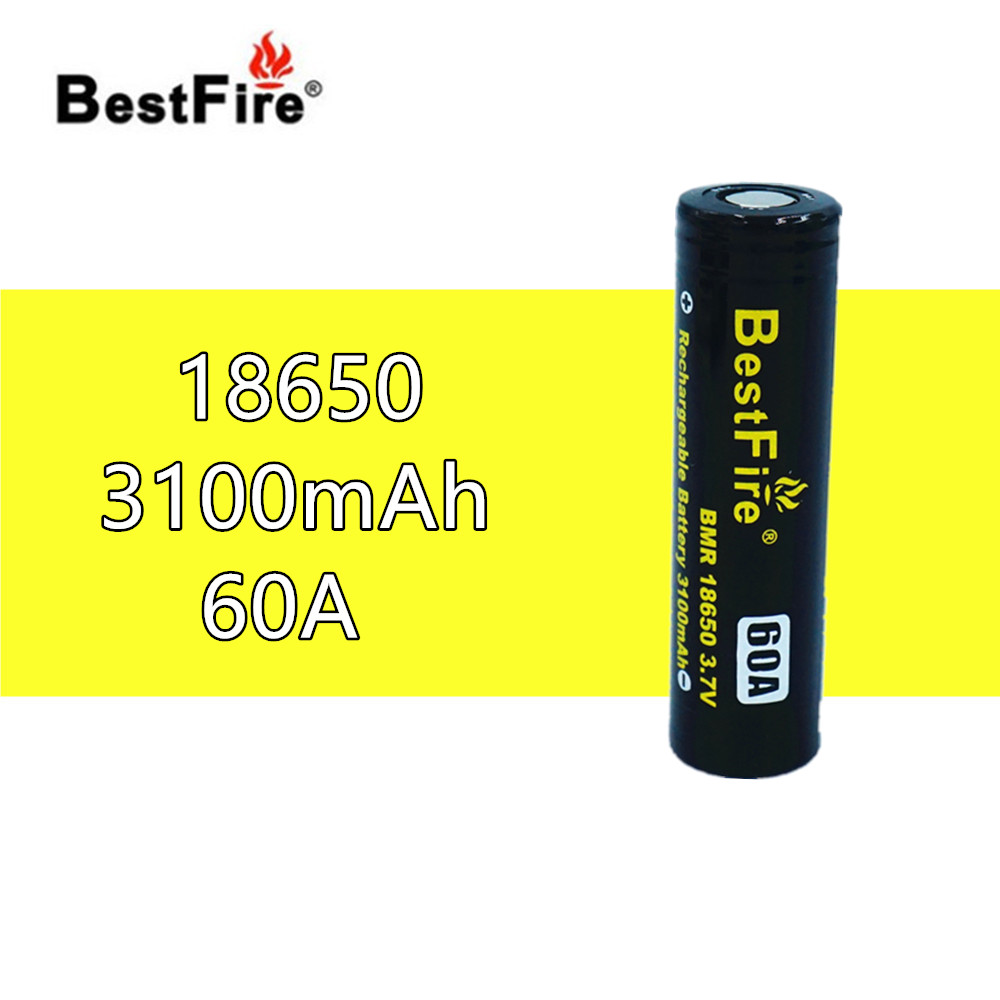 1 pcs BestFire 18650 3.7V 3100mAh 60A Rechargeable Battery For Wismec Reuleaux GEN3 <font><b>RX200S</b></font> RX2/3 RX300 Vape Box Mod Kit B121 image
