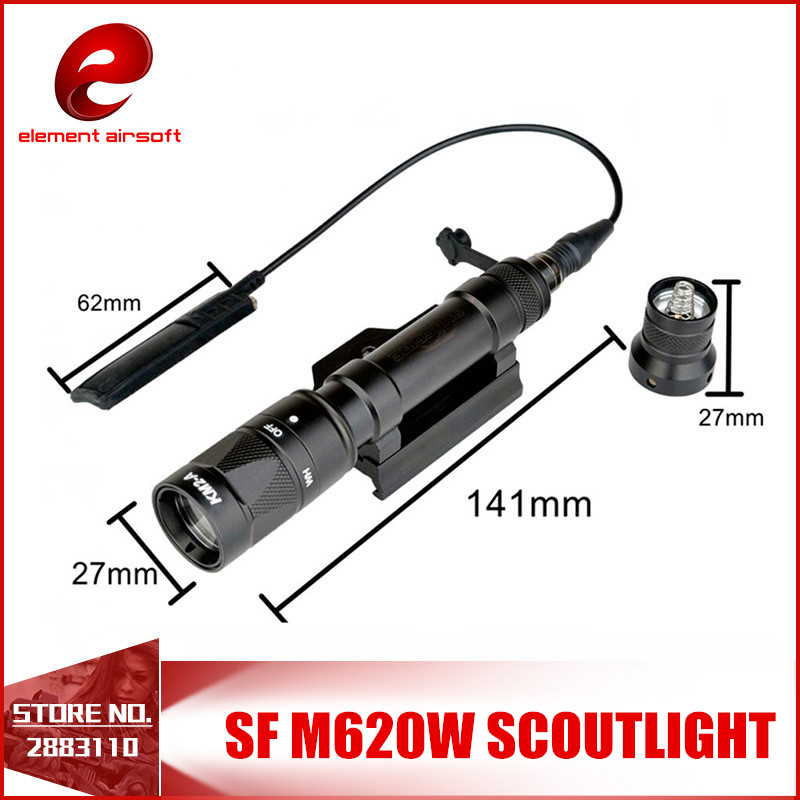 Element Airsoft SF M620W Tactical Scout Light LED Store Version 200 Lumens Weapon Lights Torch Hunting EX378 gold solid brass sprayer hand held bidet shattaf spray factory toilet shower jet