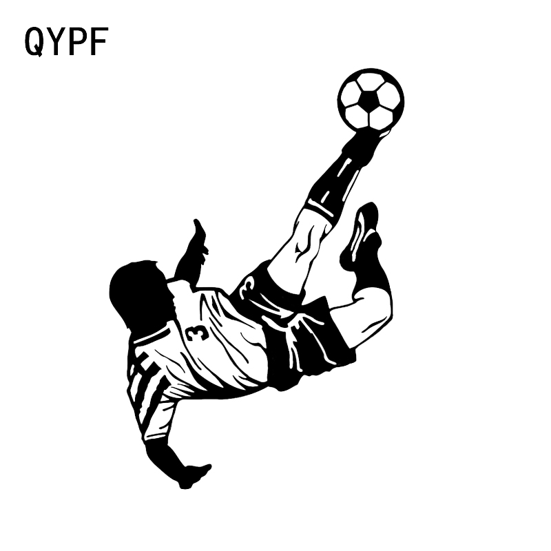 QYPF 11.7*16.7CM Personalized Football Sport Decor Car Sticker Vinyl Silhouette Graphic C16-0507