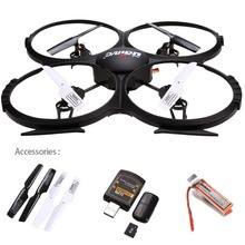 UDI U818A HD 2.4GHz 4CH 6 Axis Gyro Headless Mode RC Quadcopter Drone w/ HD 2MP Camera, Extra Battery and Return Home Function