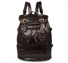 Maxdo High Quality Vintage 100% Guarantee Real Genuine Leather Cowhide Unisex men Backpacks Women Travel Bags #M6085