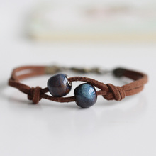 цена на 2020 New High Quality Manual Carved Exquisite Fashion Ceramic Chinese Style Hand-Woven Bracelets Free Shipping