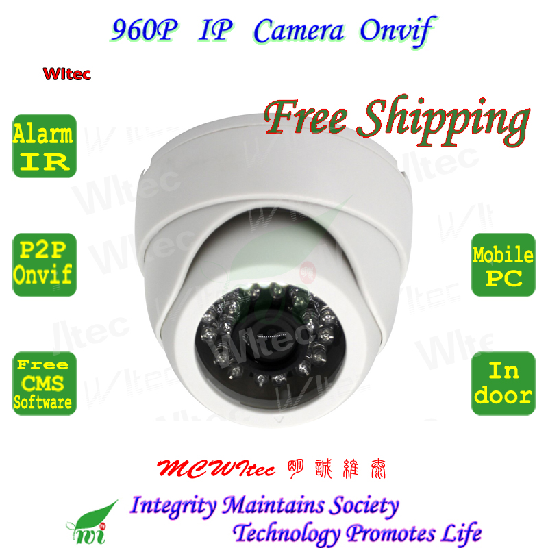 White color 24 Leds Network CCTV Camera IR HD 960P Indoor Dome Security CCTV Surveillance ONVIF P2P Cam IR Cut Filter 2MP Lens