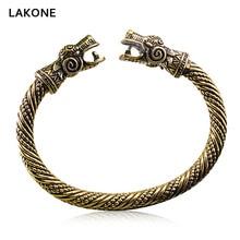 Scandinavian Peninsula Fenrir Viking Bangle Dragon War Men Women Teen Hip Hop Punk Fashion Jewelry Antique