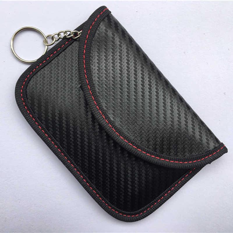 Кошелек Противоугонный автомобильный антисканирующий блокатор из углеродного волокна черный 12,5*8,5 см аксессуары защитная накладка на задний бампер чехол