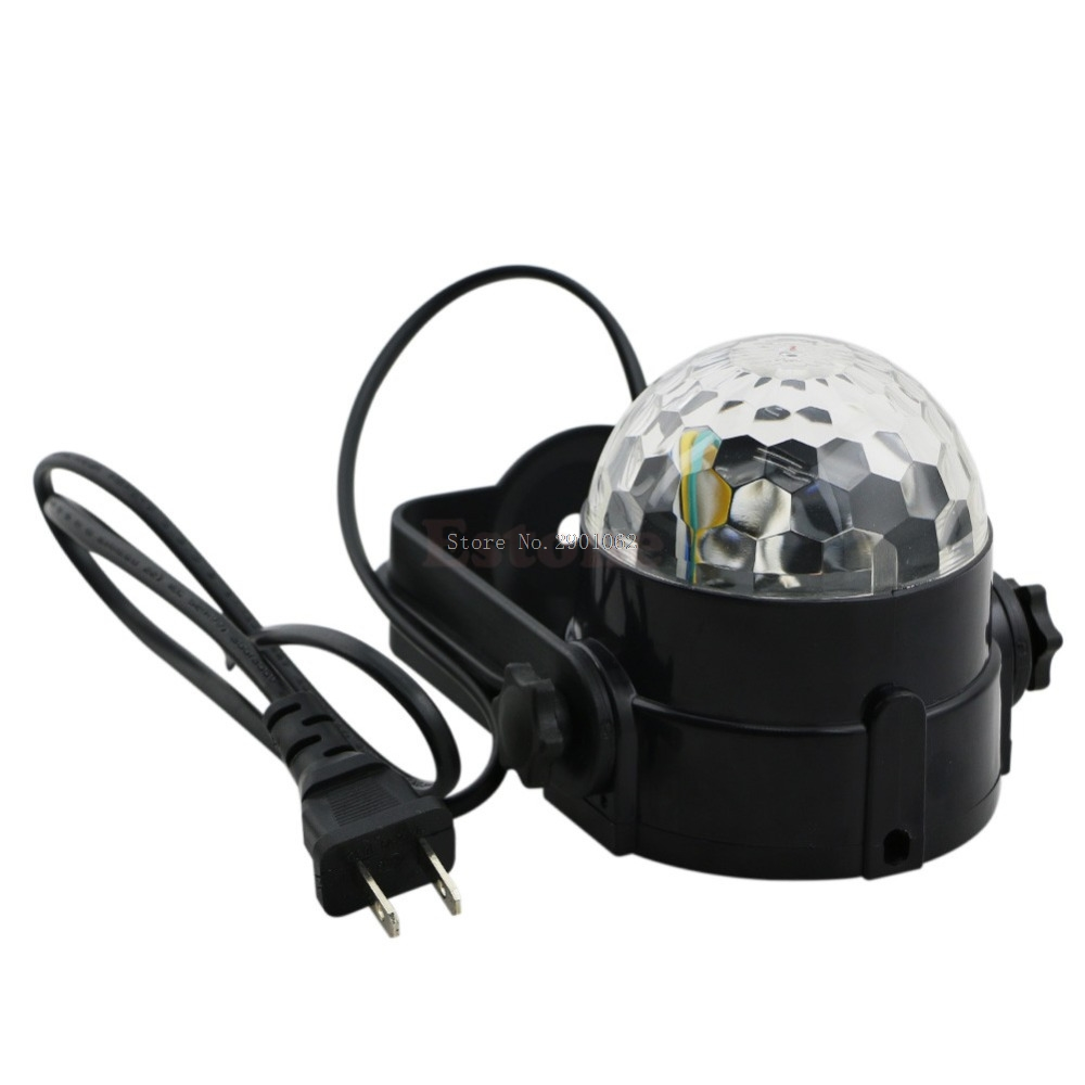 Details about  3W RGB CRYSTAL MAGIC BALL ROTATING LED STAGE LIGHT CLUB DJ DISCO PARTY US -B119