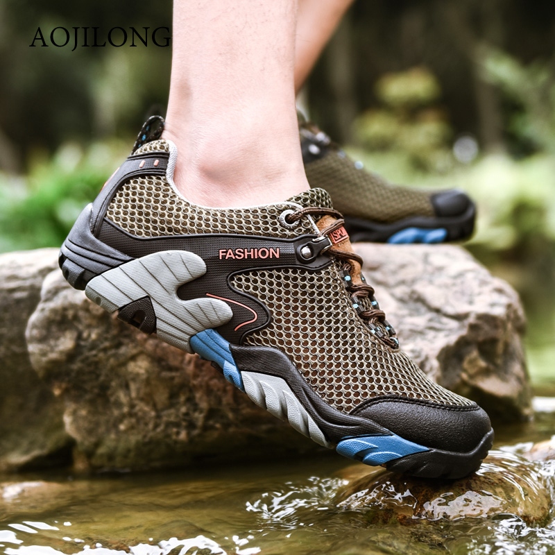 2019 Summer Hiking Shoes Men Quick Dry Waterproof Shoes Mesh Beach Outdoor Hiking Sandals Man Trekking Shoes Men Trail Footwear2019 Summer Hiking Shoes Men Quick Dry Waterproof Shoes Mesh Beach Outdoor Hiking Sandals Man Trekking Shoes Men Trail Footwear