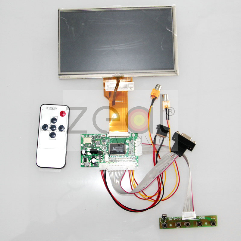 Free Shipping HDMI/VGA/2AV+Reversing Driver Board+7 inch AT070TN92 LCD+Touch Screen/ 800*480 vga 2av revering driver board 8inch 800 600 lcd panel ej080na 05b at080tn52