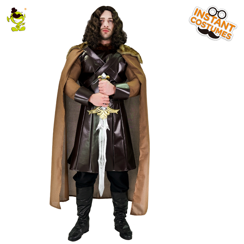 Men s Medieval North King Costume Party Jon Snow CostumeWarrior Clothing Cosplay Haloween Costumes Medieval Warrior