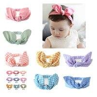 Girls Print Floral Headbands Newborn Infant Hair Accessories Children Rabbit Ears Elastic Hair Bands Baby Headwear